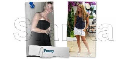 Före och efter Slanka, Emmy