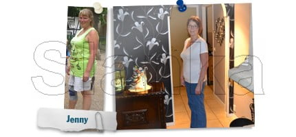 Jenny, Före och efter Slanka